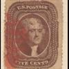 5c brown Jefferson single
