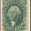 10c green Washington Type I single