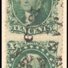 10c green Washington Type I vertical pair