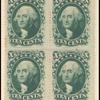10c green Washington block of four