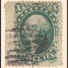 10c green Washington Type V single