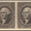 12c black Washington horizontal pair