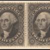 12c black Washington horizontal pair