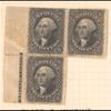 12c black Washington plate block of 3