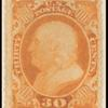 30c orange Franklin single