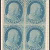 1c Franklin Type II block of four