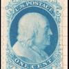 1c bright blue Franklin reprint single