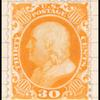 30c yellow orange Franklin reprint single