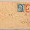 1c blue Franklin on stamped envelope