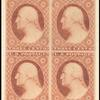 3c dull red Washington Type I block of four