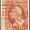 3c dull red Washington type I single