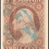 3c dull red Washington Type I used single