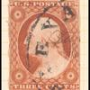 3c orange brown Washington Type I single