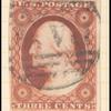 3c dull red Washington Type I single