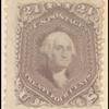 24c red lilac Washington single