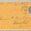 24c red lilac Washington on cover