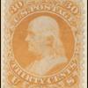 30c orange Franklin single