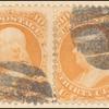 30c orange Franklin pair