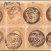 30c orange Franklin block of eight