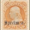 30c orange Franklin specimen single