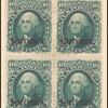 10c dark green Washington specimen block of four