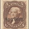 5c brown Jefferson specimen single