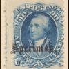 90c blue Washington specimen single