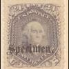 24c lilac Washington specimen single