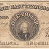 $1 black Bank of East Tennessee Jackson note