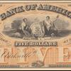 $5 black Bank of America Jackson note
