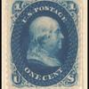 1c blue Franklin essay single