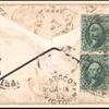 10c dark green Washington block of four on cover