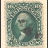 10c dark green Washington single