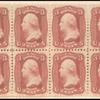 3c brown rose Washington plate essay block of eight