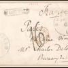 15c black Lincoln single on cover