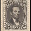 15c black Lincoln single