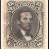 15c black Lincoln single