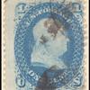 1c blue Franklin E. Grill single