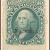 10c green Washington E. Grill single