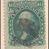 10c yellow green Washington F. Grill single