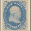 1c blue Franklin single