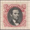 90c carmine & black Lincoln re-issue single