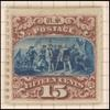 15c brown & blue Landing of Columbus re-issue single