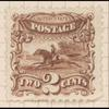 2c brown Post Rider & Horse reprint single