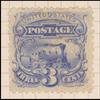 3c blue Locomotive reprint single