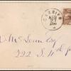 2c brown Post Horse & Carrier on cover