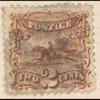 2c brown Post Horse & Rider single