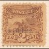 2c brown Post Horse & Rider Specimen single