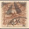 2c brown Post Horse & Rider with G. Grill single