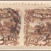 2c brown Post Horse & Rider with G. Grill pair